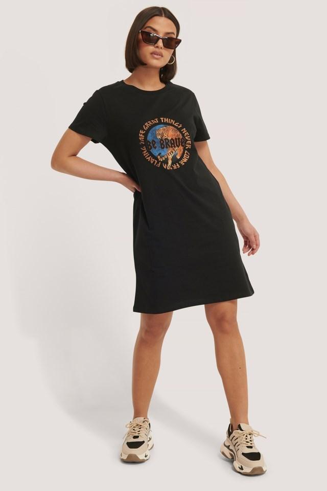 Tiger Print T-Shirt Dress