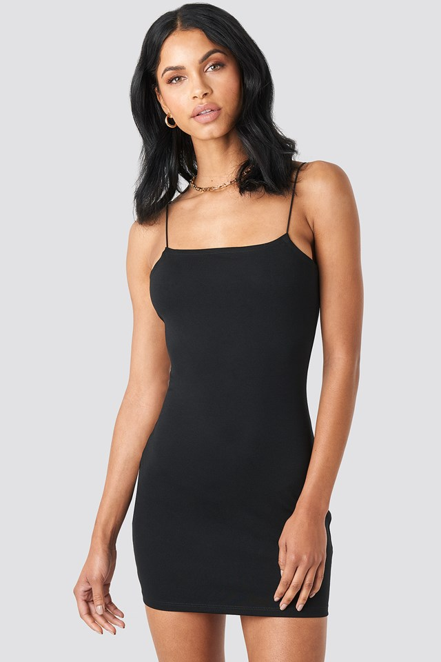 Spaghetti Strap Dress Black