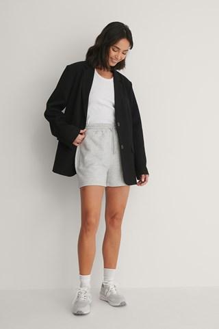 Grey Melange Cool sweat Shorts