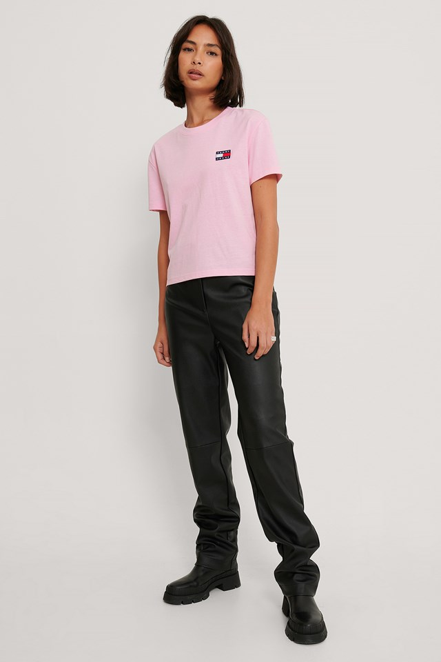 Tommy Badge Tee Pink