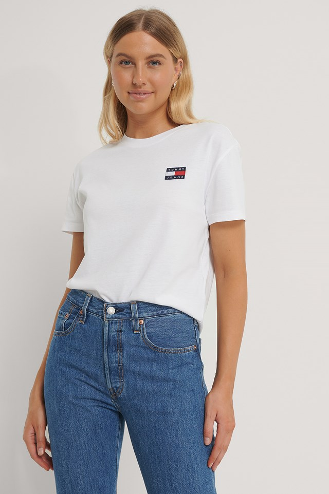 Tommy Badge Tee White