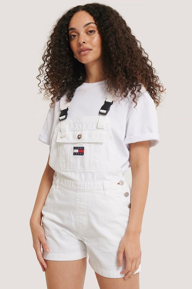 Dungaree Short Classic White