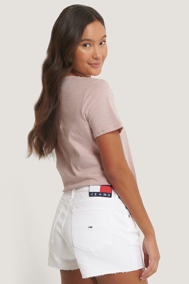 Denim Hotpants White