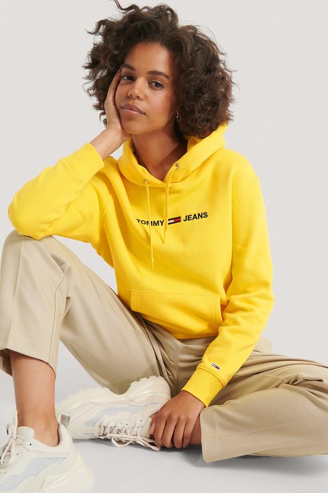 Linear Logo Hoodie Yellow