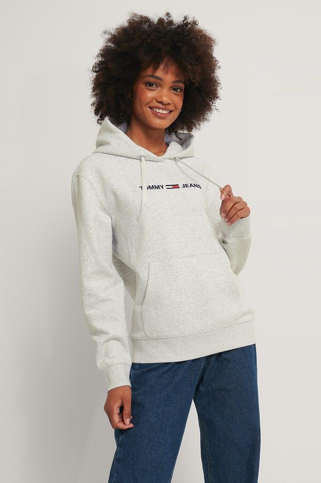 Linear Logo Hoodie Grey