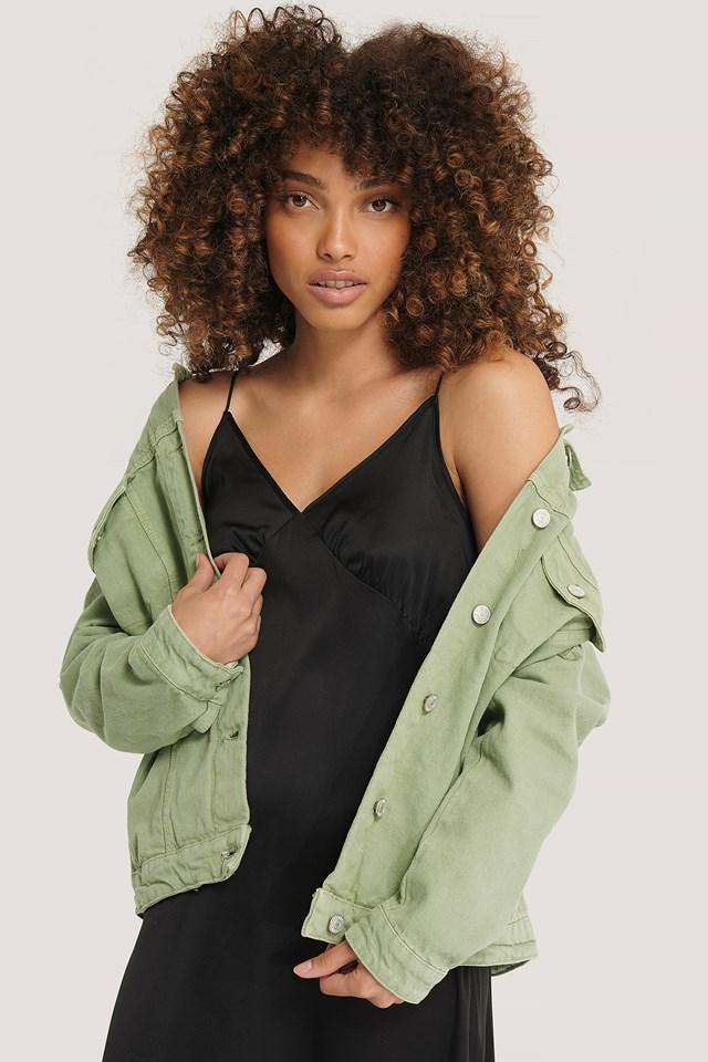 Basic Denim Jacket Khaki