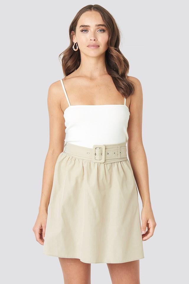 Belt Detailed Skirt Trendyol