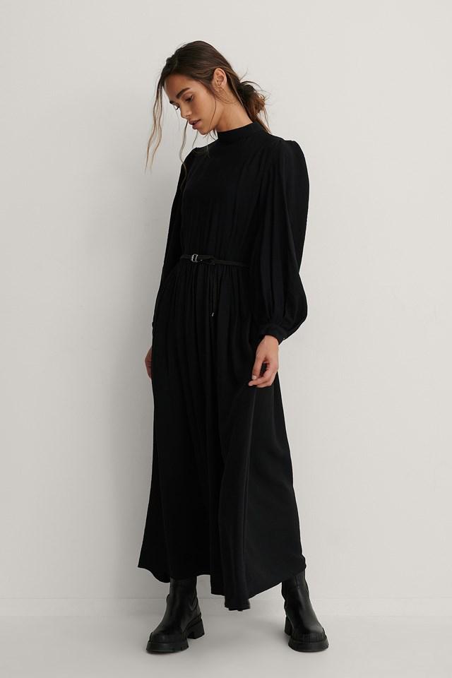 Carmen Belt Long Dress Black