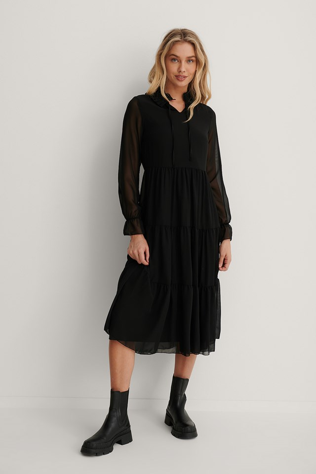 Carmen Long Dress Black
