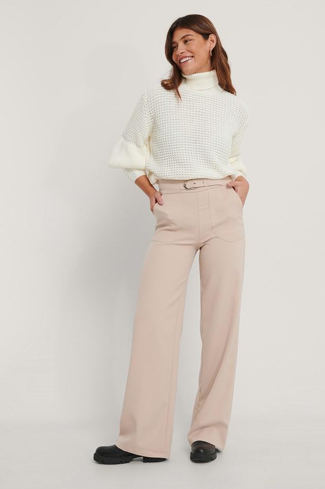 Carmen Pocket Trousers Stone