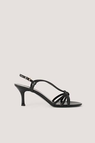 Black Classic Heel Sandals