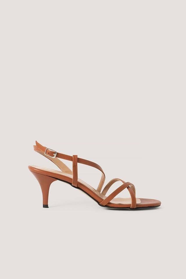 Classic Heel Strap Sandals Tobacco