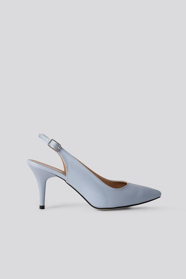 Classic Heels Buckle Sandal Blue