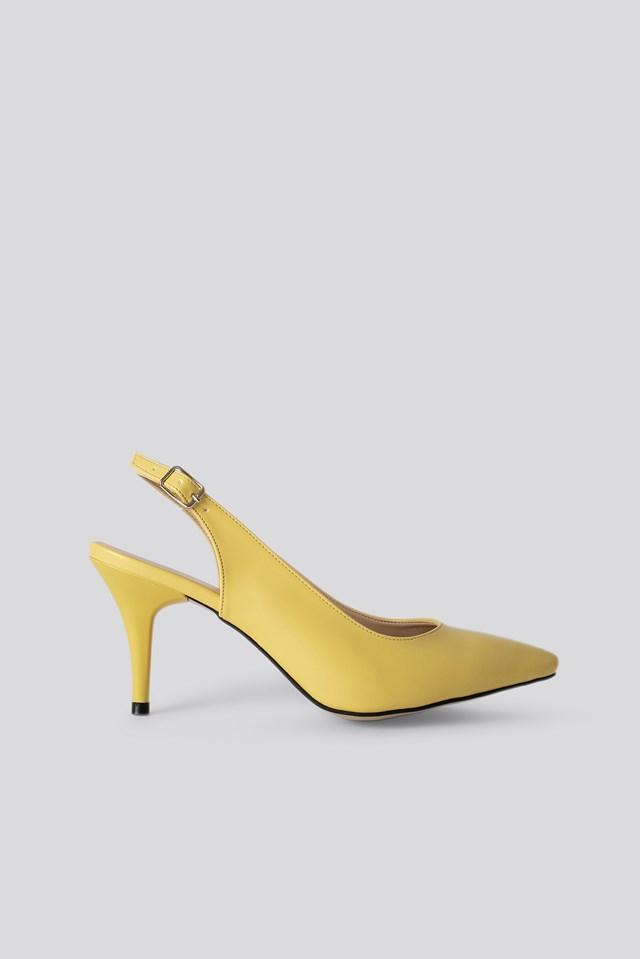 Classic Heels Buckle Sandal Yellow