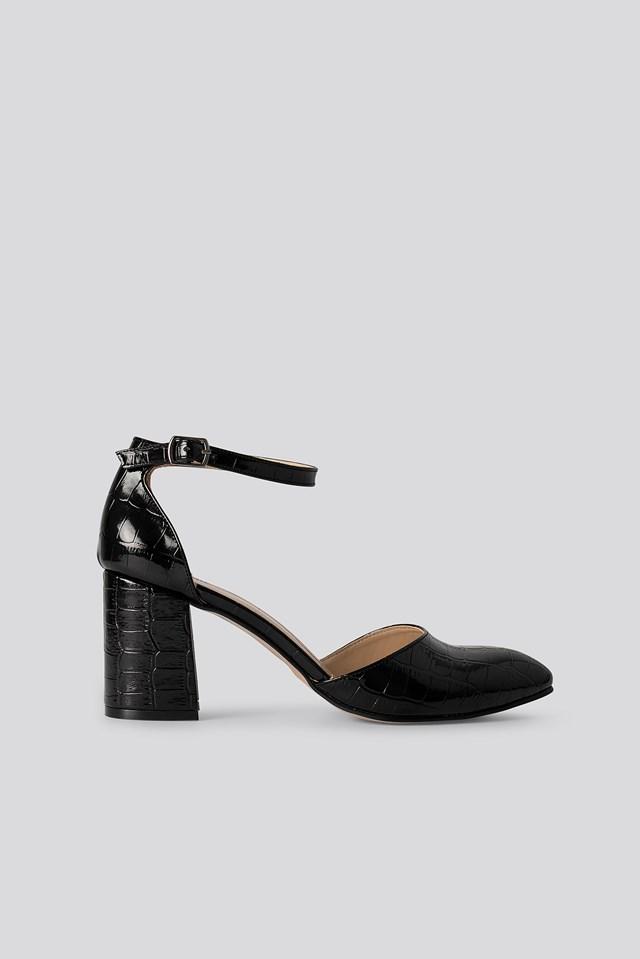 Croc Classic Heels Sandals Black