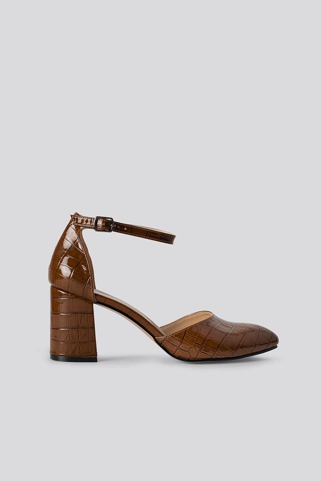 Croc Classic Heels Sandals Tobacco