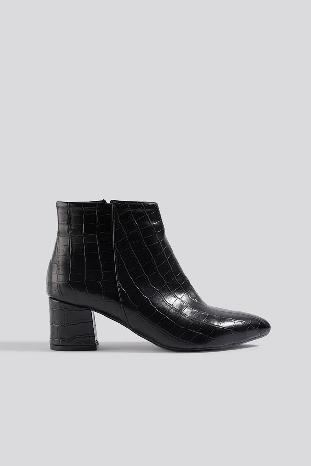 Croco Ankle Boots Trendyol