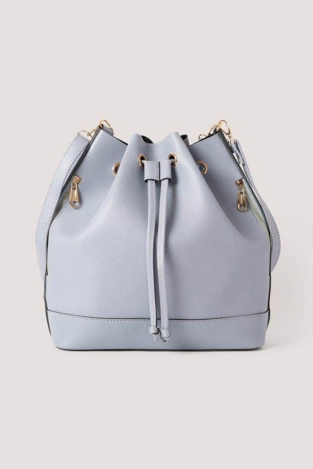 Faux Leather Shoulder Bag Blue