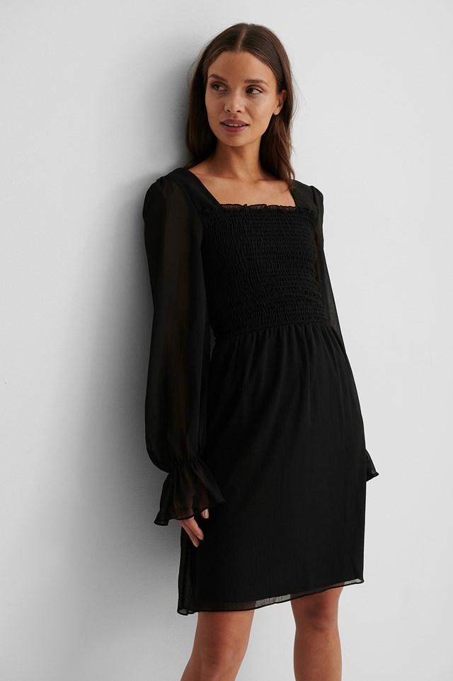 Black Giped Mini Dress