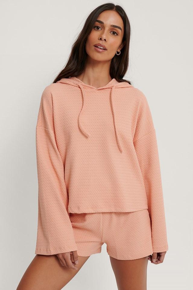 Honeycomb Pyjamas Set Powder Pink
