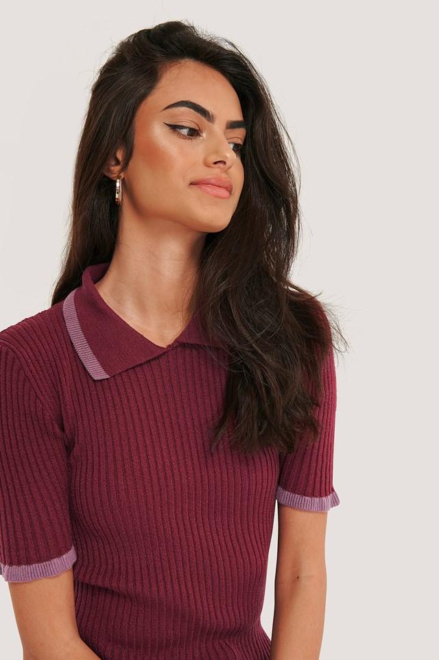 Knitted T-Shirt Damson