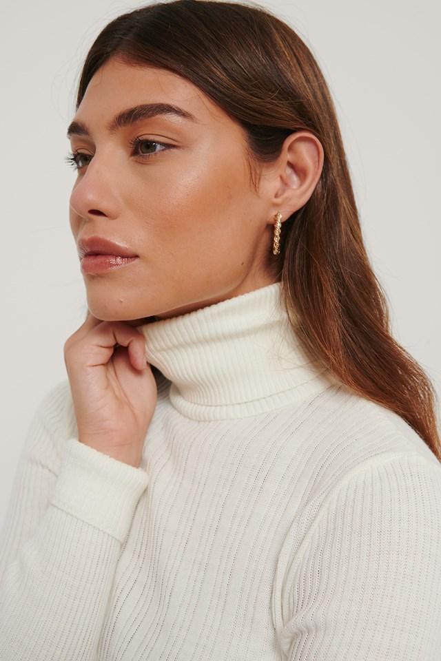 Milla Turtleneck Sweater Ecru
