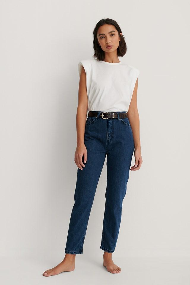 Milla High Waist Mom Jeans Blue