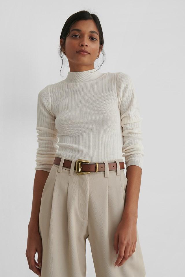 Milla Knit Sweater Ecru