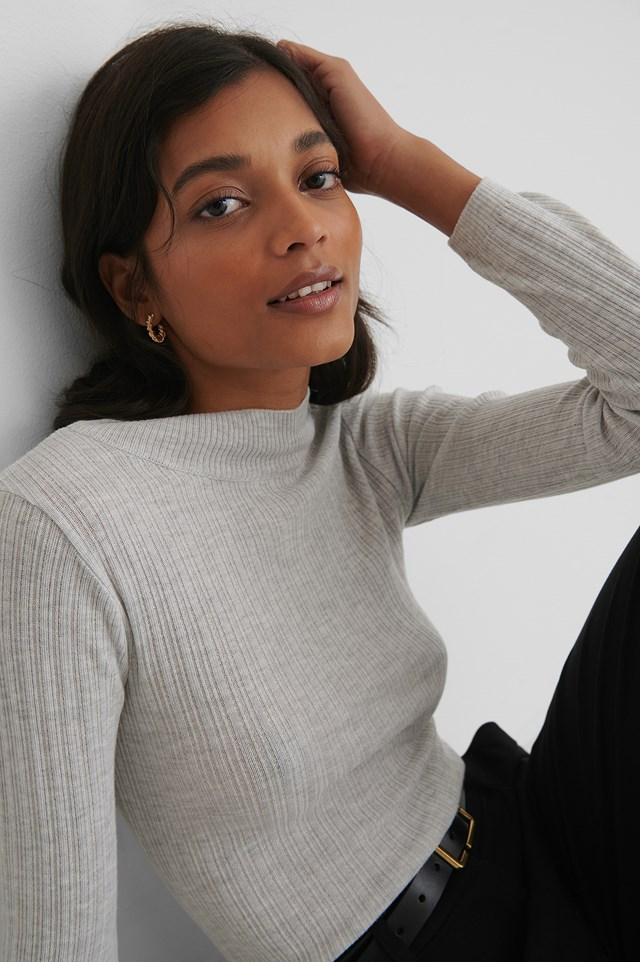 Milla Knit Sweater Gray
