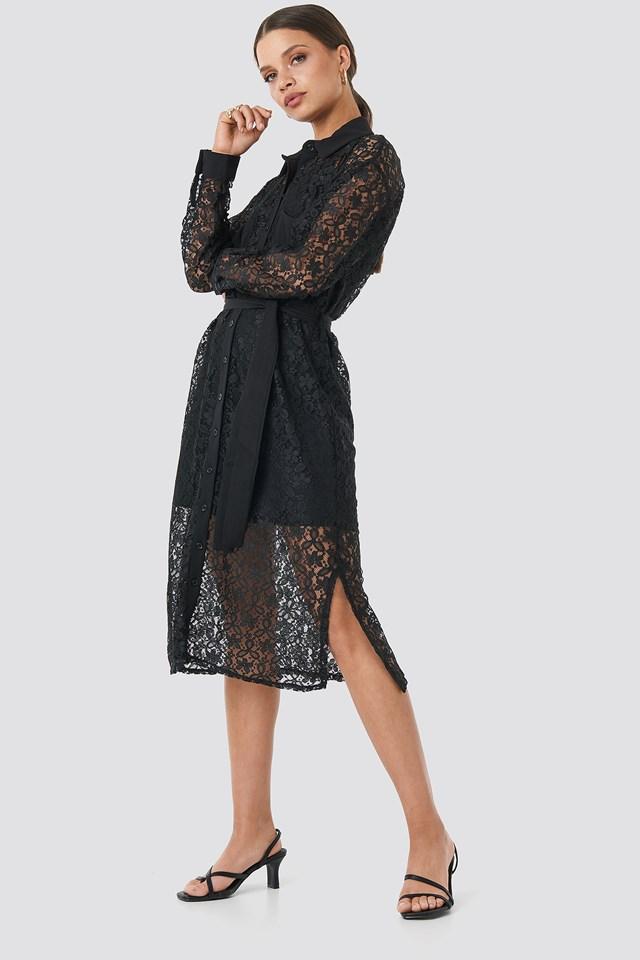 Milla Lace Midi Dress Trendyol