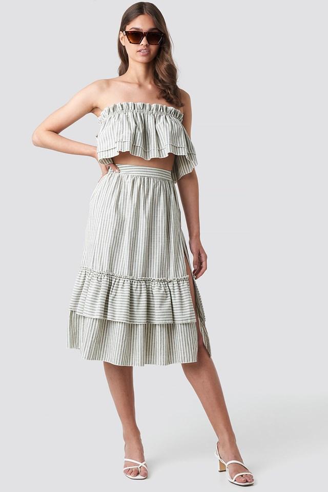 Milla Striped Set Gray