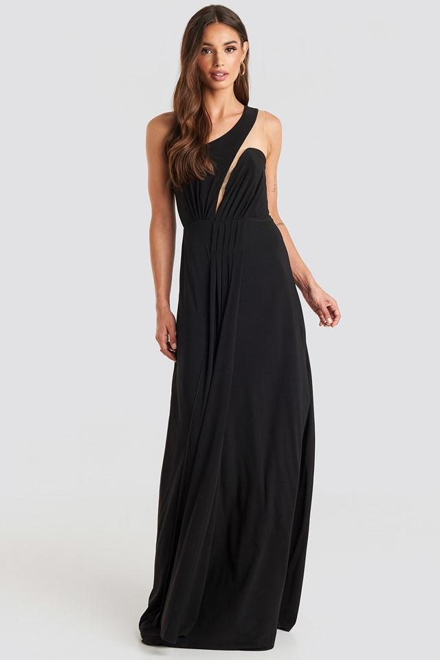 One Shoulder Evening Dress Black
