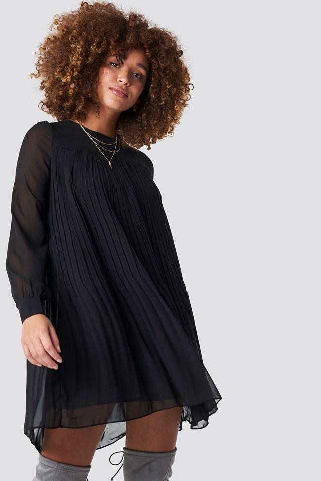 Short Pleated Dress Trendyol