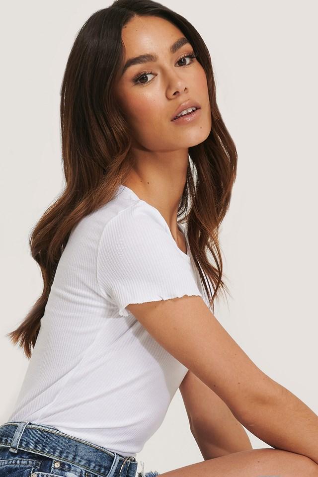 Ribbed T-Shirt White
