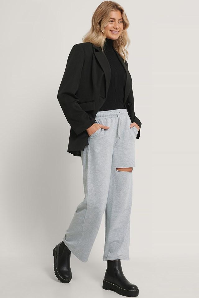 Ripped Sweatpants Gray