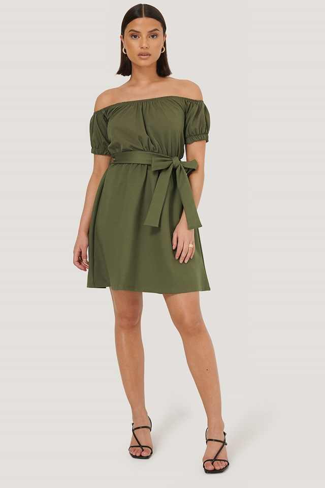 Khaki Sasha Mini Dress
