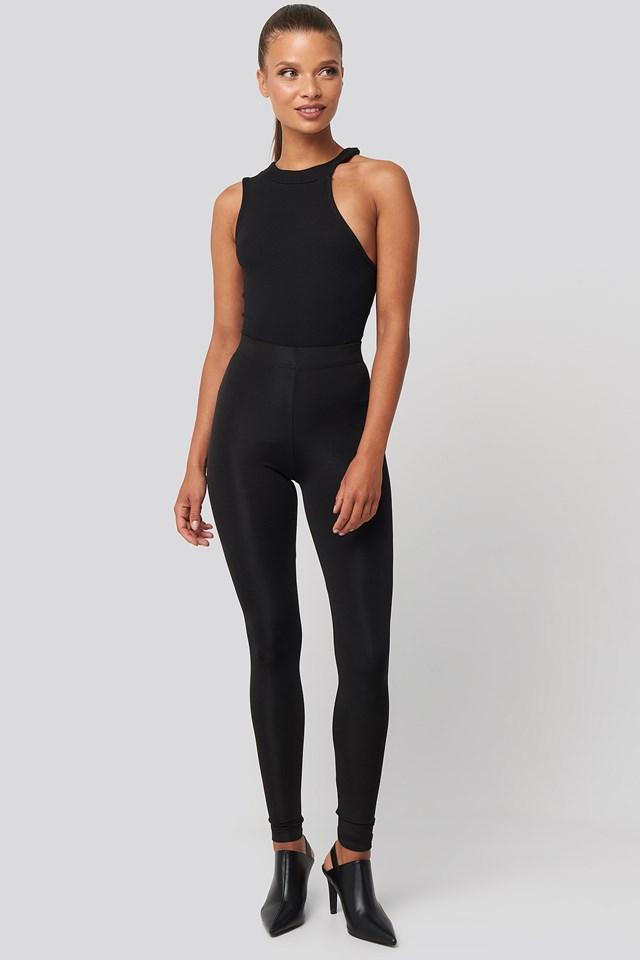 Shiny Leggings Black