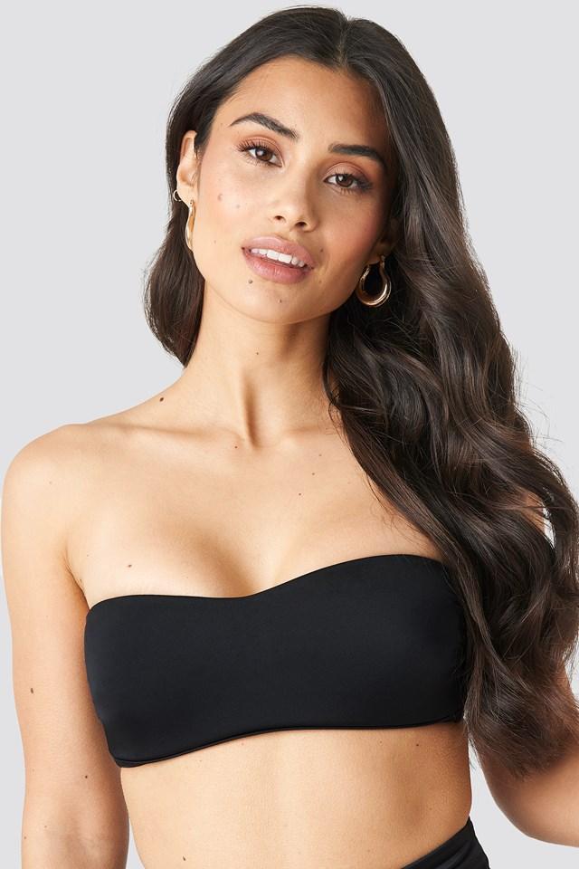 Strapless Bikini Top Black