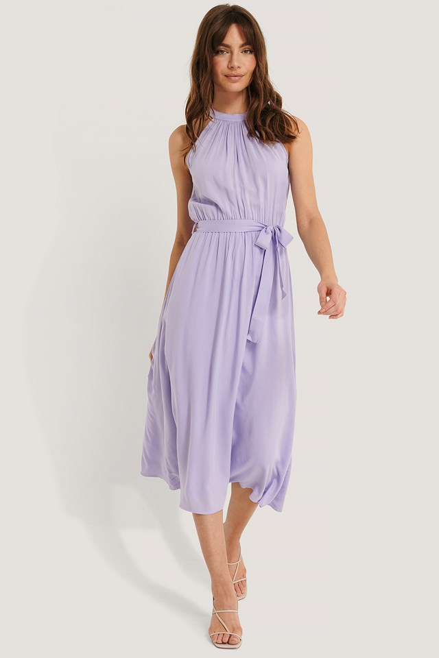 Straped Midi Dress Lila