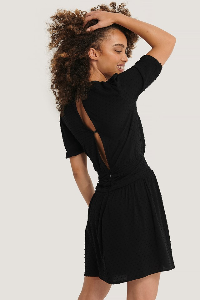 Textured Mini Dress Black