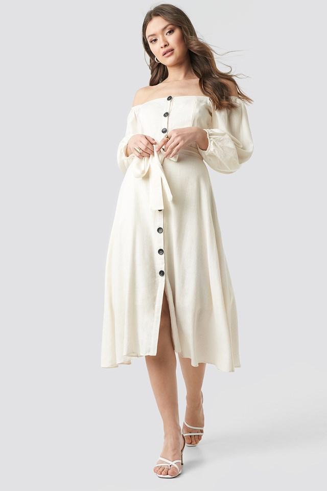 Tulum Off Shoulder Midi Dress Trendyol