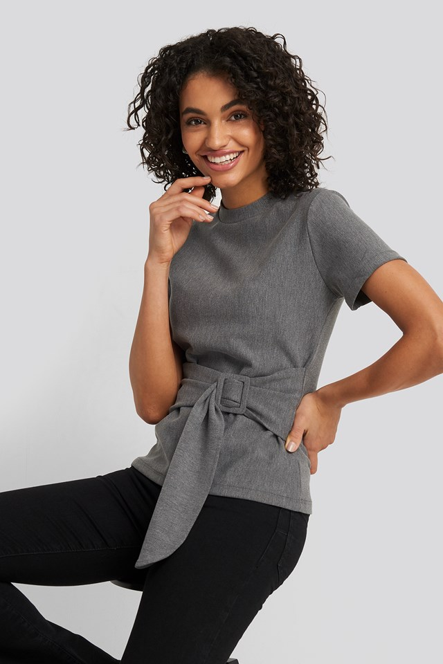 Waist Belt Detailed Top Trendyol