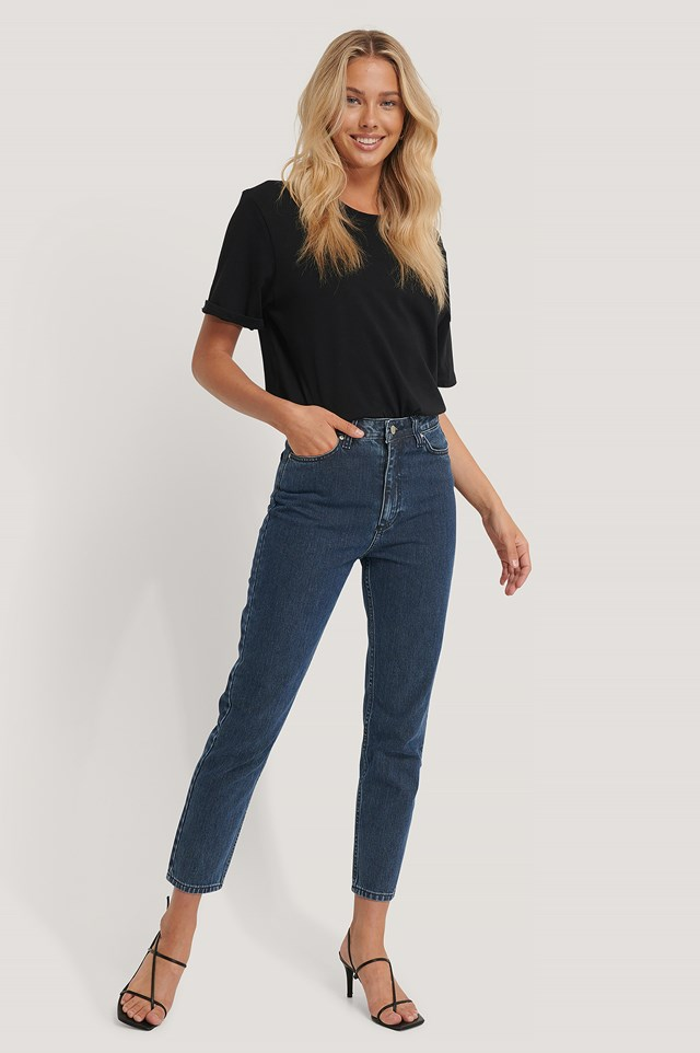 Wos Mom Jeans Blue