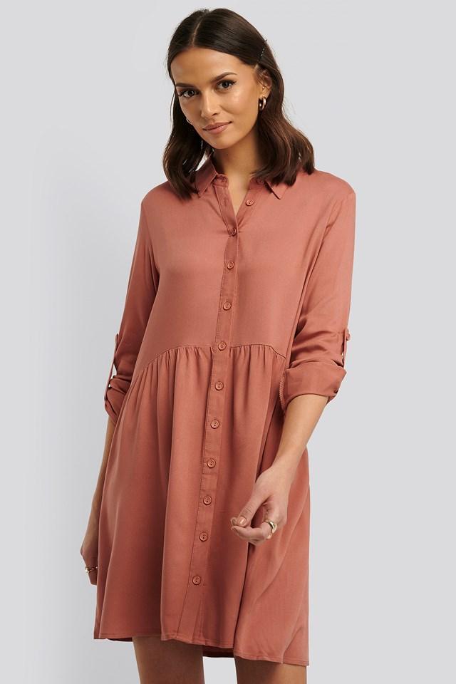 Yol Shirt Dress Dusty Rose
