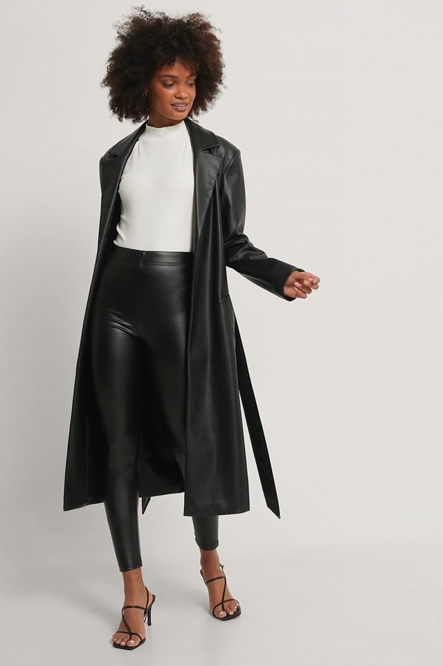 Faux Leather Leggings Black