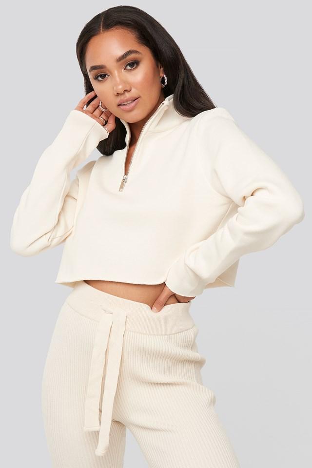 Mattie Crop Sweatshirt Ivory