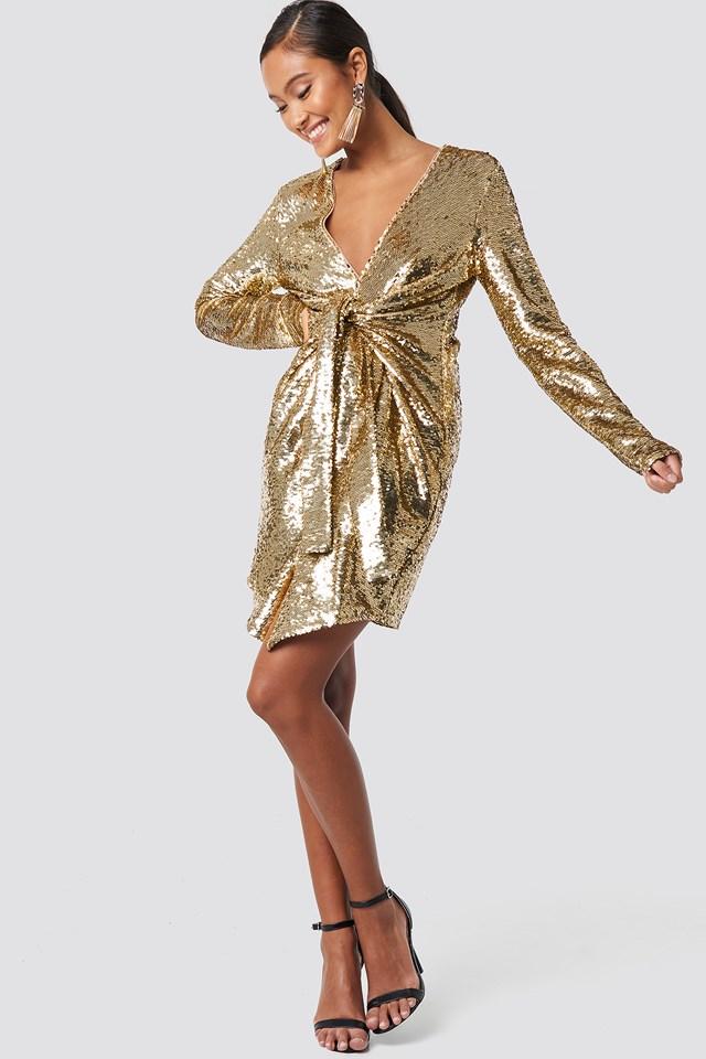 Alyssa Sequin Dress Champagne
