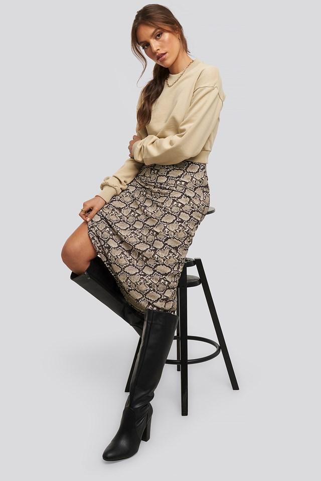 Snake Midi Skirt Snake