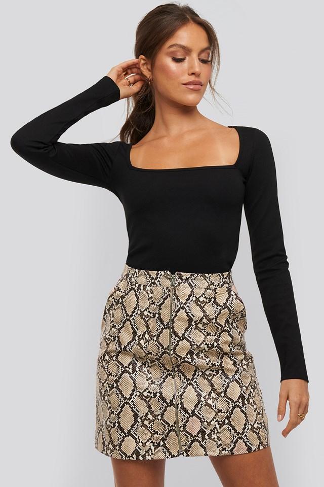 Taylor zipper skirt Snake